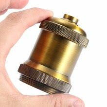 1 шт. Ретро Винтаж золотой винт резьба алюминий античный E27 бамперы для ламп Лампа патрон подвесной светильник в стиле лофт Цоколи