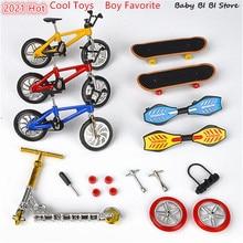 1Set  Mini Scooter Two Wheel Scooter Children's Educational Toys Finger Scooter Bike Fingerboard Skateboard