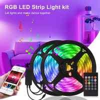 Tira de luces LED para música por Bluetooth cinta Rgb controlada por aplicación, Cinta Blanca Led, luz de neón DC12V Flexible, para cocina, armario, fiesta, vacaciones tiras led para auto led tv ambilight