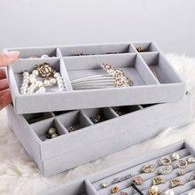 Hot Sales Fashion Draagbare Fluwelen Ring Sieraden Display Organizer Box Lade Houder Oorbel Sieraden Storage Case Showcase