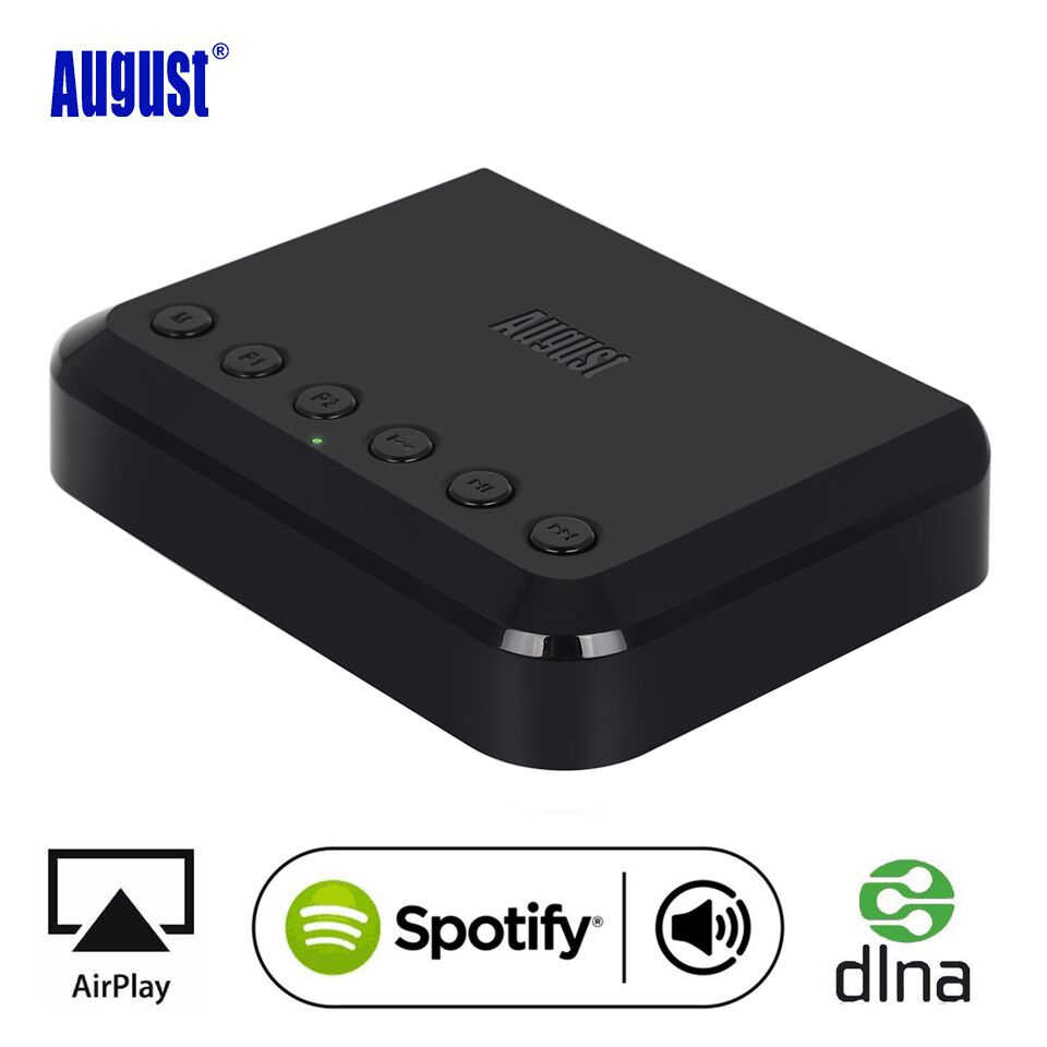 August Wr320 Wifi Bluetooth Audio Receiver Wireless Music Optical Adapter For Airplay Spotify Dlna Nas Multiroom Sound Stream Adapter Music Adapter Wirelessadapter Wifi Aliexpress
