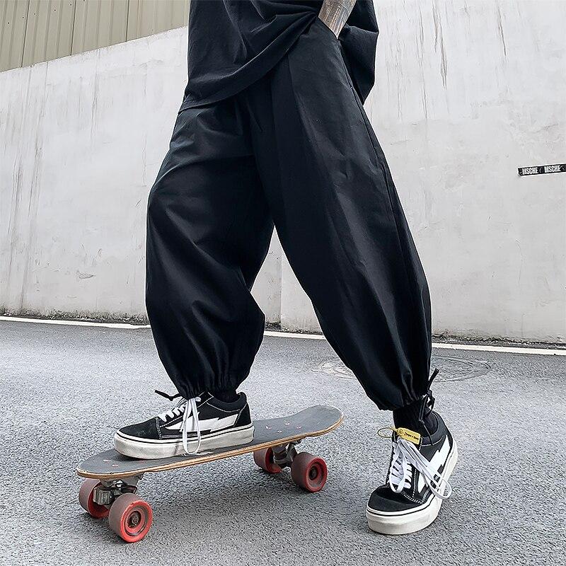 Hip Hop Boy Elastic Waist Design Harem Pant Men 2020 New Summer Streetwear Punk Casual Trousers Jogger Male Loose Pants