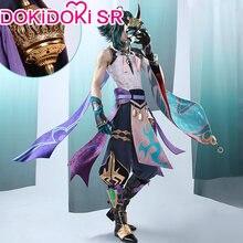 PRE-SALE dokidoki-sr jogo cosplay impacto genshin cosplay xiao traje genshin impacto xiao cosplay