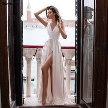 Thinyfull простые свадебные платья в стиле бохо с разрезом сбоку