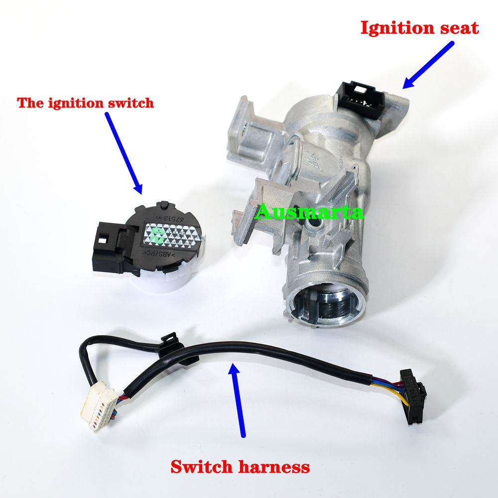 New Steering lock & Ignition Starter Switch for  Golf MK5 MK6 Eos  1K0 905 851 B 1K0905851B 1K0 905 851 B|switch switch|lock switch|switch lock - title=