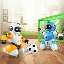 1 set Soccer Robot Toys RC Intelligent Battle Robots Programming Children Gift for Boys Smart Robot Family Indoor Toy new intelligent rc robot funny indoor outdoor game toys 2 4g dancing battle model toy multi function remote control robots