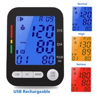 Automatic Digital Upper Arm Blood Pressure Monitor BP Tonometer Usb Rechargeable Sphygmomanometer tensiometro tansiyon aleti