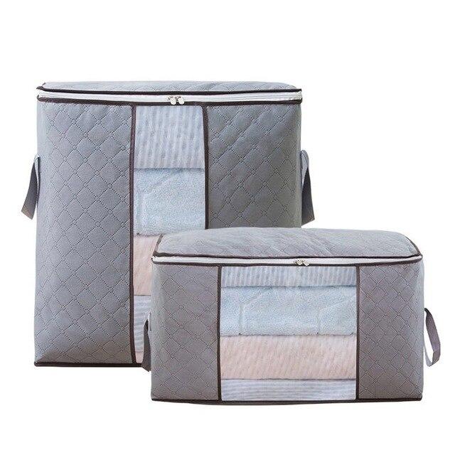 Não tecido colcha saco de armazenamento dobrável grande caixa de armazenamento doméstico saco de acabamento de armazenamento cobertor saco de armazenamento de roupas|Sacos de armazenamento|   -