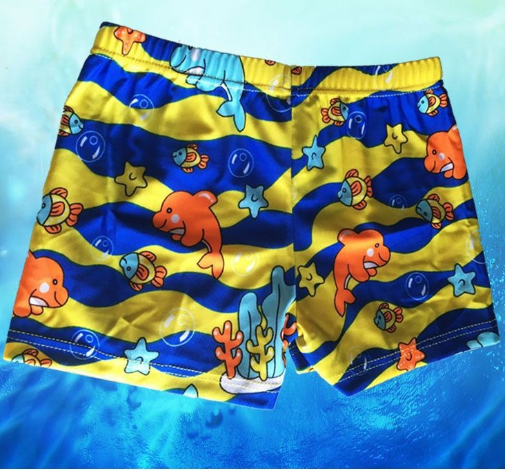 Hot Sales Cartoon KID'S Swimwear Boys' swimming trunks AussieBum Fashion Small CHILDREN'S Swimming Trunks