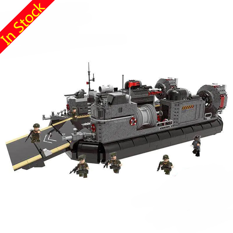 In Stock 3006Pcs XINGBAO Blocks 06019 Across The Battlefield Series Amphibious Transport Ship Toys For Children Old Stock