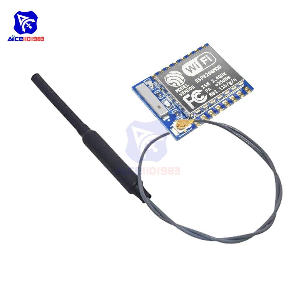 ESP8266 ESP07 ESP-07 WIFI uzaktan kumandalı Model seri Port kablosuz alıcı modülü IPX 2.4G WIFI anten Arduino için