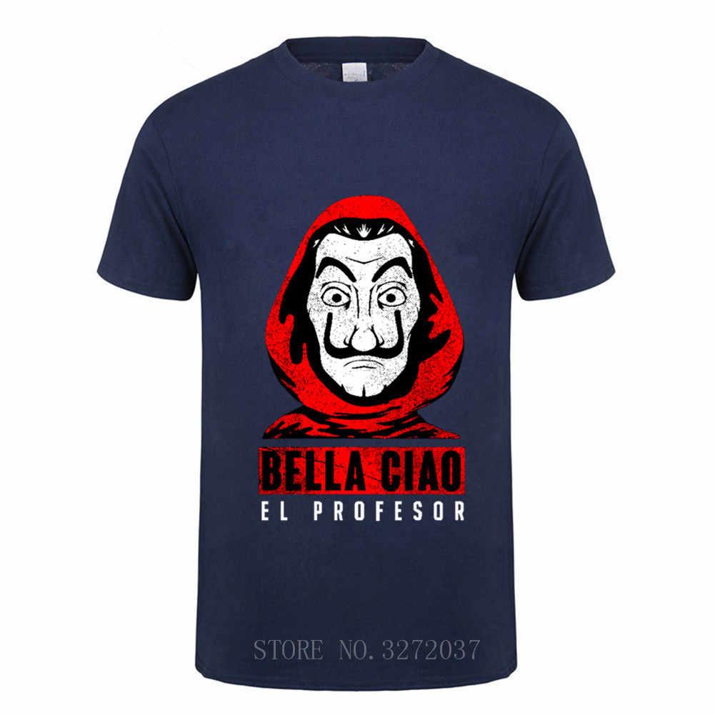 Moda casa de papel professor camiseta design criativo harajuku hip hop t camisa casa de papel camiseta masculina