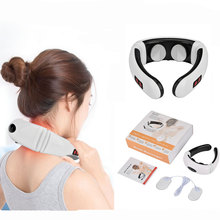 Electric-Neck-Massager Power-Control Cervical-Physiotherapy Back Pain-Relief Heating