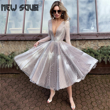 New Vintage 2020 White Browm Evening Dresses Dubai Turkish Arabic Aibye Long Sleeves Party Gowns Abendkleider Mermaid Prom Dress