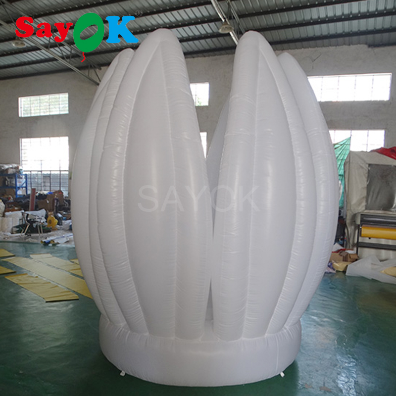 2 м (6.56ft) надувной цветок лотоса гигантские декоративные надувные цветы для сцены Свадьба День рождения (цветок можно открыть) - 3