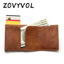 Кошелек с защитой от кражи zovyvol 2020 rfid держатель для карт