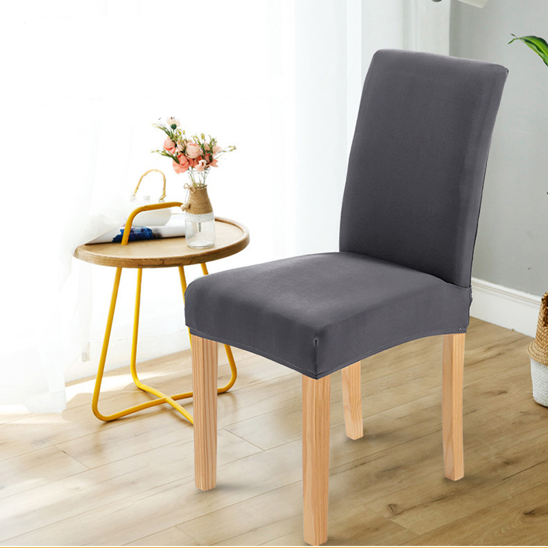 Four seasons Solid Color Spandex Stretch Slipcover seat Chair Cover For Dining Room Kitchen Wedding Banquet