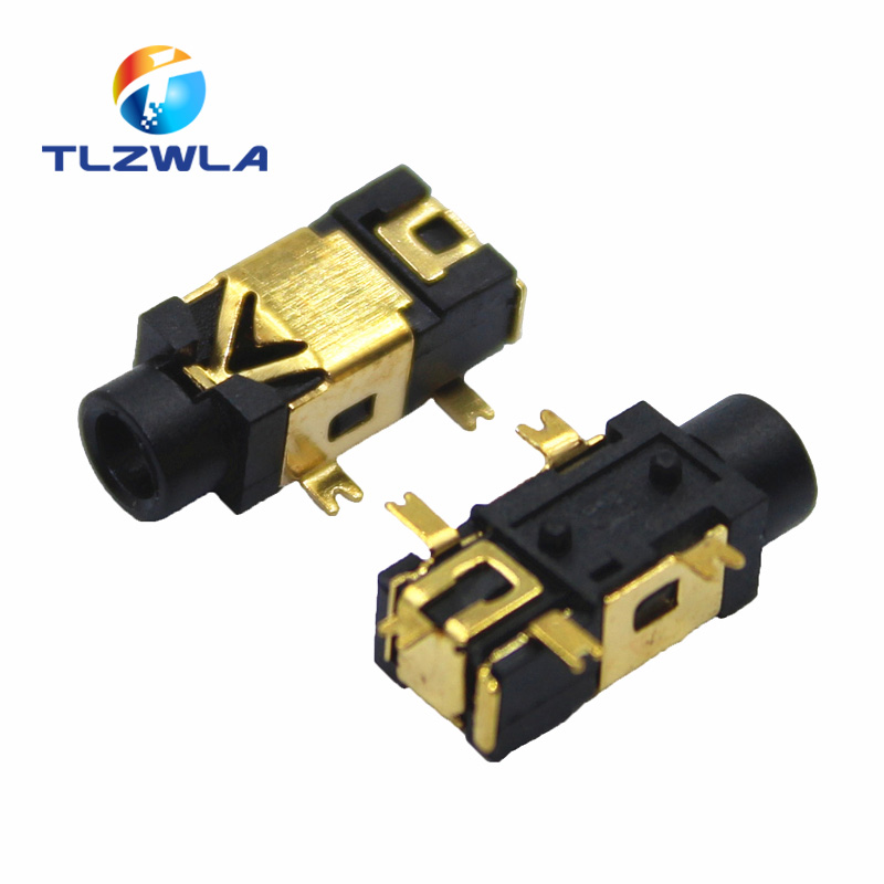 10pcs PJ-209 PJ209 Stereo Jack 2.5mm 2.5 Mm Golden Female Headphone Socket