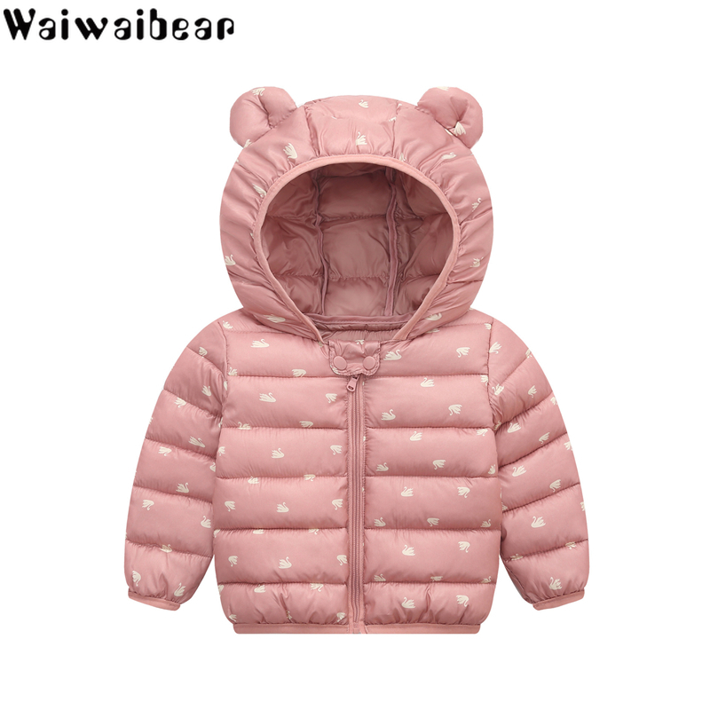 Winter Clothes Kids Down Coats Infant Snow Wear Hooded Coats Baby Girls Boys Cartoon Print Jackets Autumn Winter Warm Outerwear