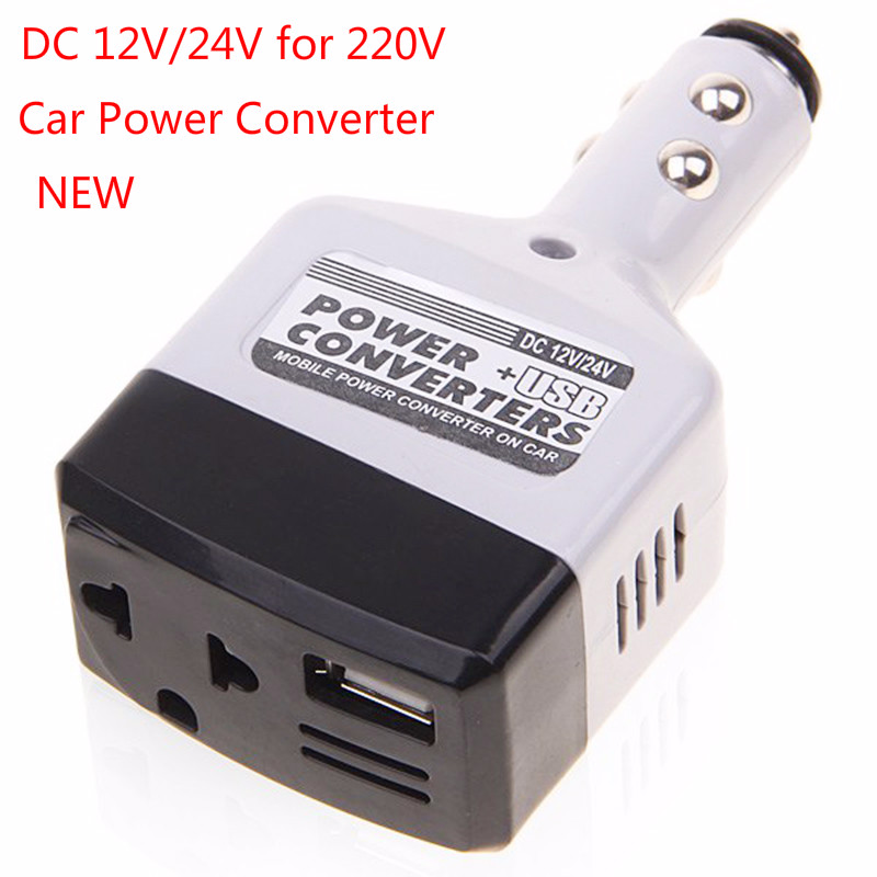 DC 12V/24V For 220V Car Power Converter Inverter Adapter Charger Cigarette Lighter For Car 10W Durable USB Outlet Charger
