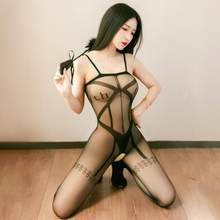 Erotic Open Crotch Tights Transparent Bodysuit Body Stockings Erotic Underwear Women Sexy Teddy Lingerie Porn Sex Costumes