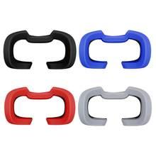 Silicone macio máscara de olho capa anti-suor olho rosto almofada para oculus rift s vr fone de ouvido acessórios óculos anti-escapamento almofada