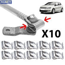 10pcs Universal Wiper Linkage Motor Rods Repair Clips Car Windscreen Arms Link Mechanism Clip Fix Kit Spring Auto Replacement