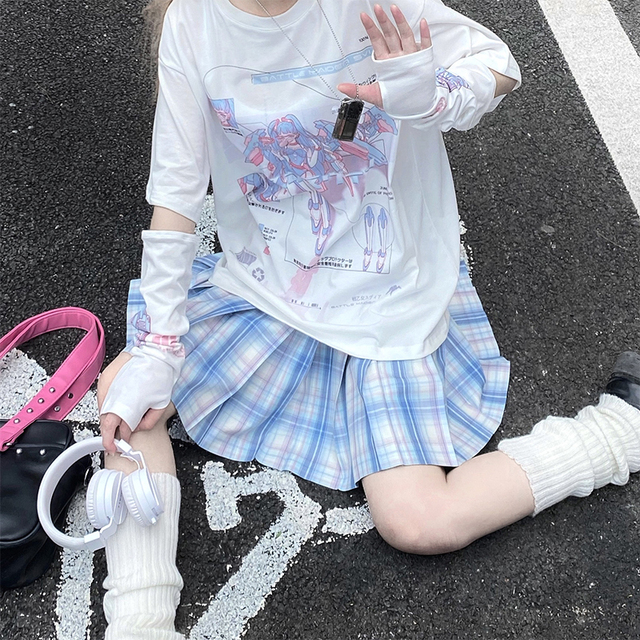 Harajuku Gothic Tees Anime Clothing Women's Clothing & Accessories Tops & Tees T-Shirts Men's Clothing & Accessories Men's Tops & Tees Men's T-Shirts cb5feb1b7314637725a2e7: White