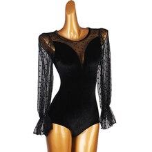 Bodysuit Lingerie Dance-Top Latin-Leotards Ballroom Women for Dirty