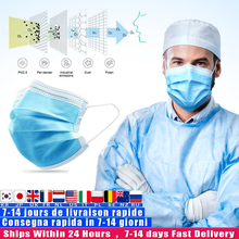 Anti Pollution 3 Laye Mask dust protection Masks Disposable Face Masks Elastic Ear Loop Disposable Dust Filter Face Mask