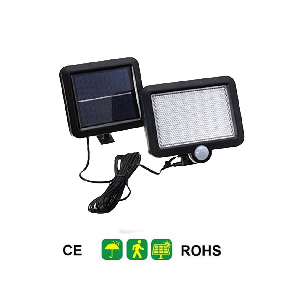 Wasserdicht 56/30 <font><b>LED</b></font> Solar Panel Power Licht PIR Motion <font><b>Sensor</b></font> Wand Lampe Outdoor Pfad Yard Garten Zaun Nacht Licht split montieren image