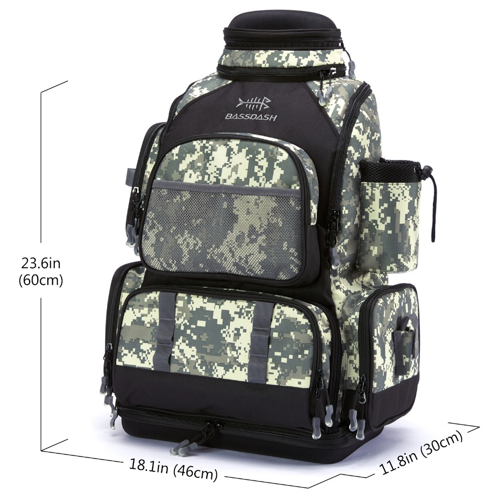 3 camo fishing tackle box backpack