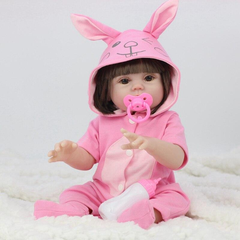 45cm bebê silicone reborn realista água potável xixi vinil corpo boneca reborn lifelike bebê boneca recém-nascido banhar brinquedos para meninas