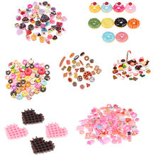 10 Pcs Cute Mini Foods Cake Biscuit Donuts Dollhouse Miniature Dolls Accessories Ornament Kitchen Play Toys Dessert For Kid Doll(China)