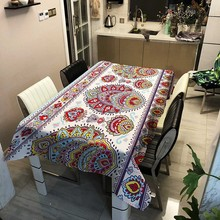 Europe Flower Tablecloth Tapestry Waterproof Oilproof Table Cloth Cover Wedding Banquet TV Cabinet Cover Table Cloth Rectangular
