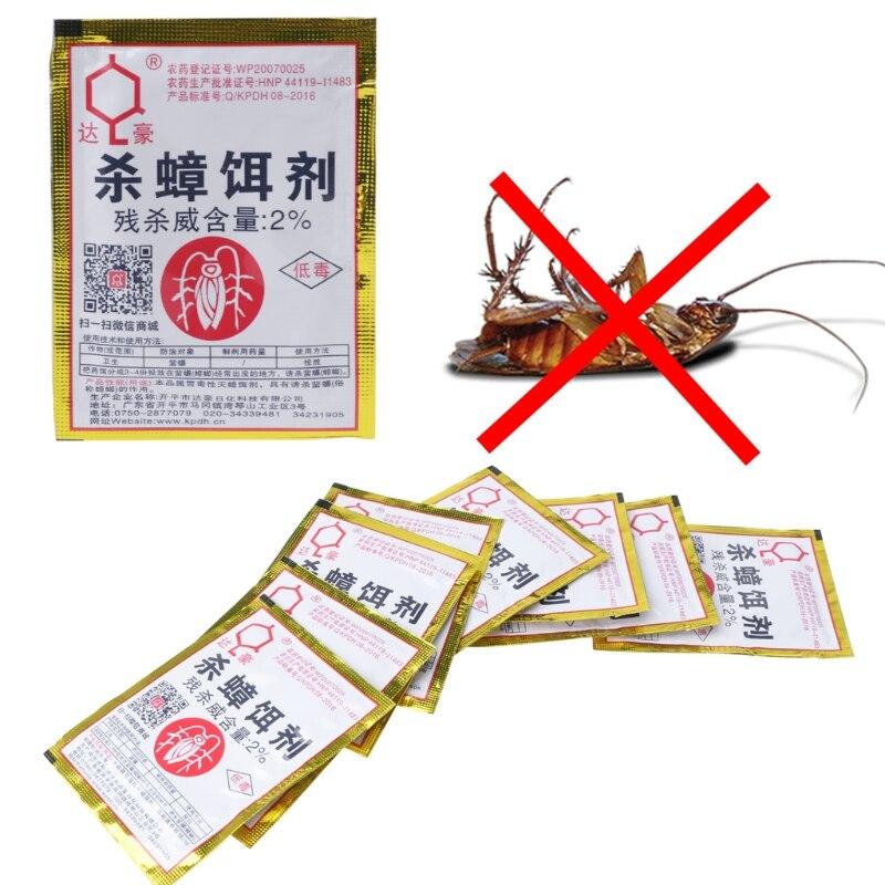 15PCS Cockroach Repellent Trap Poison Pest Portfolio Indoor Family Bug Control  C63B