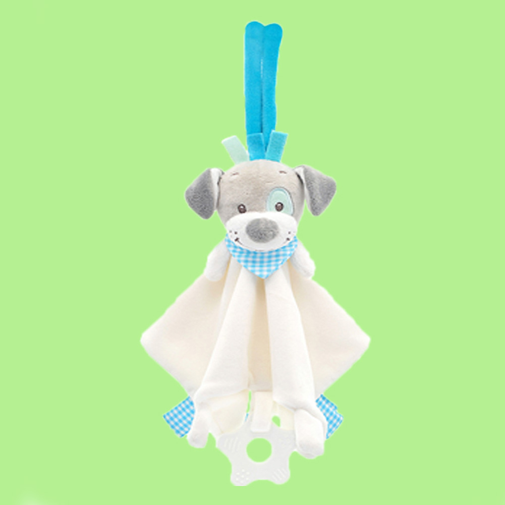 Safe Eco Friendly Animal Shaped Anti Fade Cartoon Non Toxic Cute Baby Rattle Toy Sleep Comforter Home Bed Car Hanging