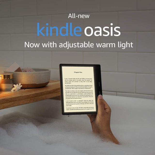 """All New Kindle Oasis   2019 release 32GB, E reader   7"""" High Resolution Display (300 ppi), Waterproof, Built In Audible, Wi Fi"""