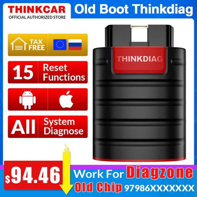 Alte boot chip Thinkdiag volle system OBD2 Scanner Diagnose Werkzeug OBDII Code Reader 15 reset funktionen PK Starten easydiag golo