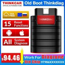 오래 된 부팅 칩 Thinkdiag 전체 시스템 OBD2 스캐너 진단 도구 OBDII 코드 리더 15 재설정 기능 PK 출시 easydiag golo