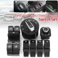 7Pcs Window Control Headlight Fuel Gas Switch For VW Golf MK5 MK6 for Jetta MK3 MK4 Passat B6 B7 5ND959565B