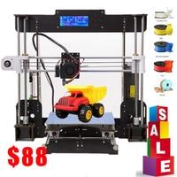 3D Printer A8 High Precision Black with CD+ Filaments Resume Power Failure Printing 3D Printer Parts