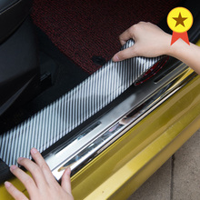 Car Styling Auto Stickers Carbon Fiber Rubber Moulding Strip Soft Black Trim Bumper Strips DIY Door Sill Protector Edge Guard 1M mayitr 15m 15mm car chrome moulding trim strip tape diy decoration auto door edge guard protector