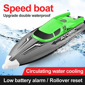 Toys Boat Ship-Model Rc-Speedboat-Toy Remote-Control Racing High-Speed Water-Cooled Children's