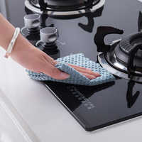 Kitchen Dishcloth Microfiber Almond Velvet Dishcloth Non-Greasy Water Absorbent Dishwashcloth Pure Double-Sided Cleaning Cloth