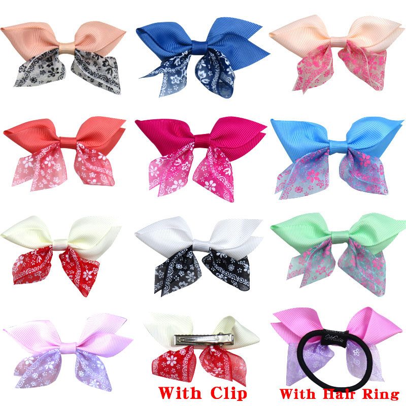 1PCS  Lovely Wings Elastic Hair Bands Girls Ribbon Clip Bows Girl Hair Tie Knot Hairpin Handmade Fashion Hair Accessories