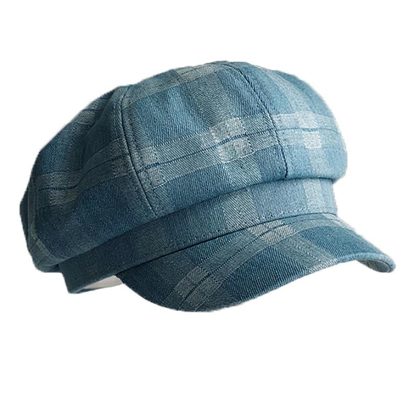 Восьмиугольная кепка Фибоначчи для мужчин и женщин, весна лето 2020, клетчатый берет, ретро козырек, шляпа художника Мужские кепки-восьмиклинки      АлиЭкспресс