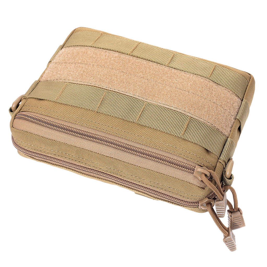 Molle Utility Waist Pouch Bag Multi Purpose Zippers Oxford Cloth Bag for Running Cycling Fishing Hunting