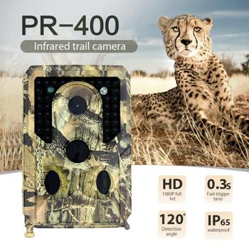 PR 400 Hunting Trail Camera Waterproof 12MP Photo Trap Night Vision Trail Camera 1080P Trigger Wildlife Camera Surveillance tanie i dobre opinie Skatolly 3MP color CMOS 12MP 4032 x 3024 FHD 1920 x 1080 P 25FPS 0 8 s 3 photos + video 10 s 110 degrees wide 120 degrees