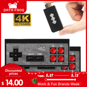 Data Frog USB Wireless Handheld TV Video Game Console Build In 600 Classic Game 8 Bit Mini Video Console Support AV/HDMI Output(China)